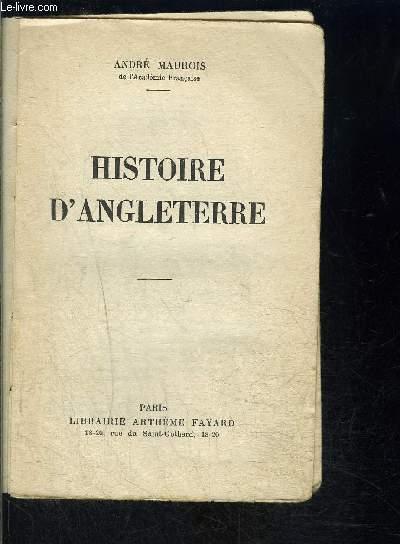 HISTOIRE D ANGLETERRE