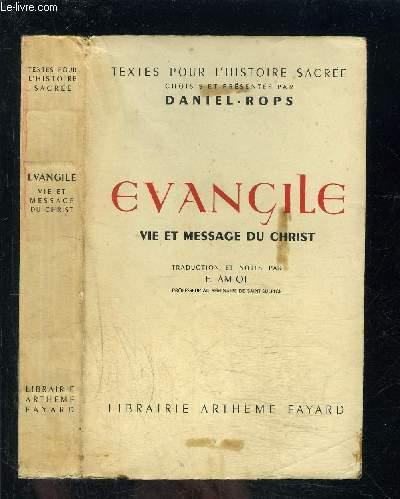 EVANGILE- VIE ET MESSAGE DU CHRIST