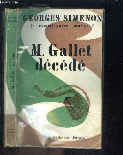 M. GALLET DECEDE