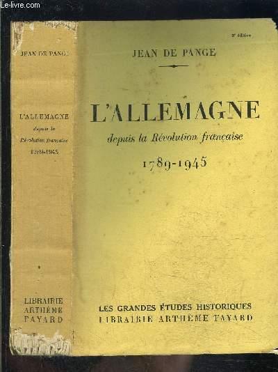 L ALLEMAGNE DEPUIS LA REVOLUTION FRANCAISE 1789-1945
