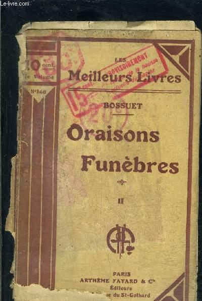 ORAISONS FUNEBRES- TOME 2- vendu seul- VENDU EN L ETAT