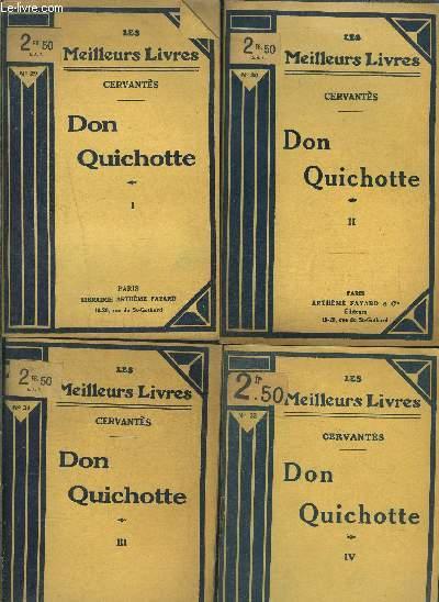 DON QUICHOTTE- 4 TOMES EN 4 VOLUMES- 1 + 2 + 3 + 4