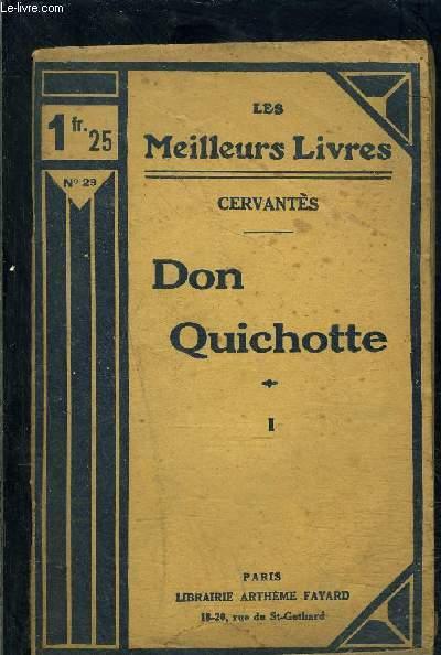 DON QUICHOTTE- TOME 1- vendu seul