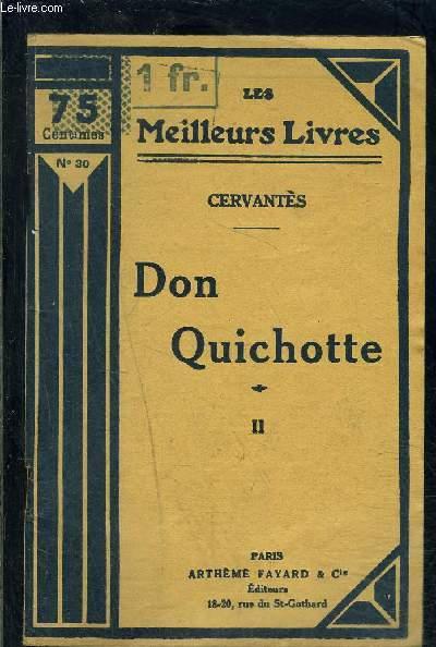 DON QUICHOTTE- TOME 2- vendu seul