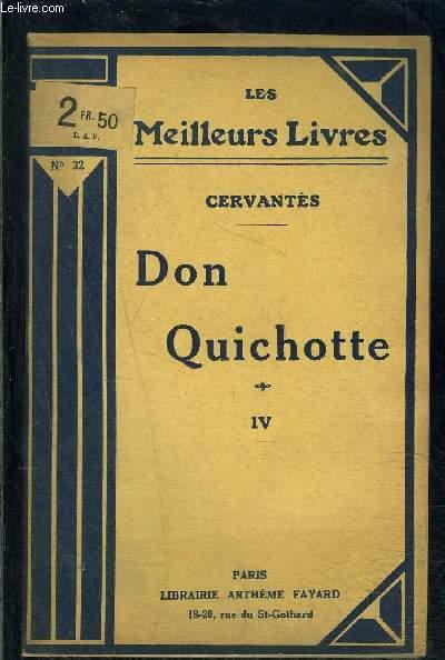 DON QUICHOTTE- TOME 4- vendu seul