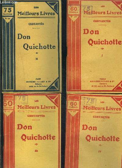 DON QUICHOTTE- 4 TOMES EN 4 VOLUMES- 1+ 2+ 3+ 4