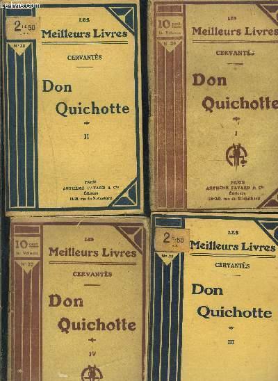 DON QUICHOTTE- 4 TOMES EN 4 VOLUMES- 1+ 2+ 3+ 4