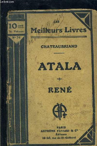 ATALA- RENE- TOME 1- vendu seul