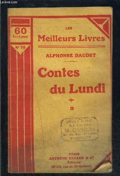 CONTES DU LUNDI- TOME 2 vendu seul