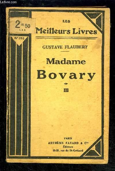 MADAME BOVARY- TOME 3 vendu seul