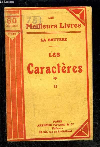 LES CARACTERES- TOME 2 vendu seul