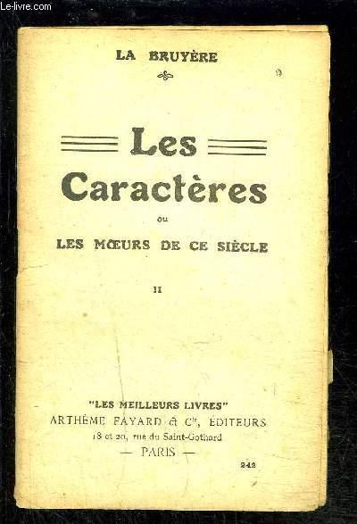 LES CARACTERES OU LES MOEURS DE CE SIECLE-