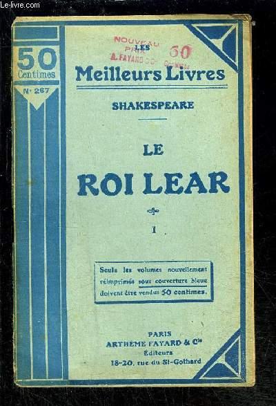 LE ROI LEAR- TOME 1 vendu seul