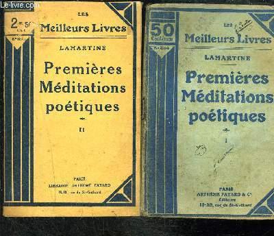 PREMIERES MEDITATIONS POETIQUES- 2 TOMES EN 2 VOLUMES