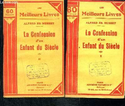 LA CONFESSION D UN ENFANT DU SIECLE- 2 TOMES EN 2 VOLUMES
