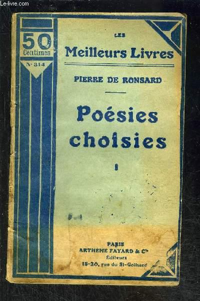 POESIES CHOISIES- TOME 1- vendu seul