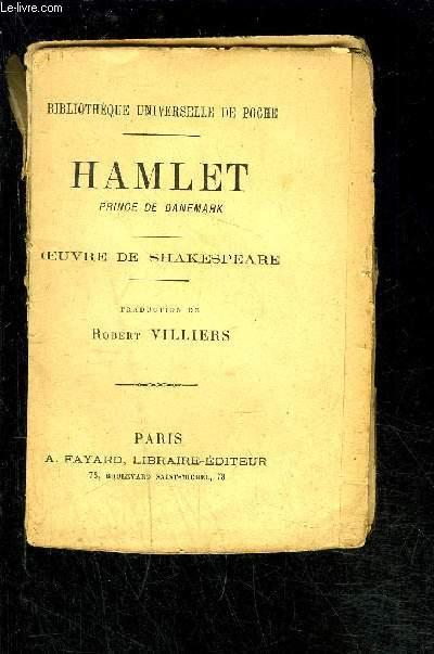 HAMLET PRINCE DE DANEMARK- VENDU EN L ETAT