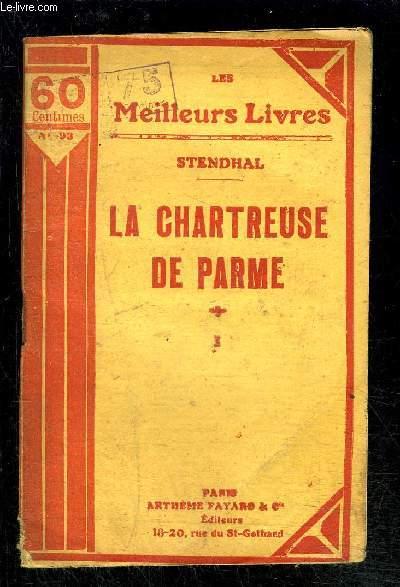 LA CHARTREUSE DE PARME- TOME 1 vendu seul