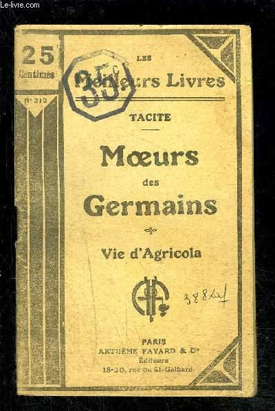 MOEURS DES GERMAINS- VIE D AGRICOLA