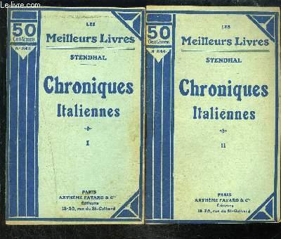 CHRONIQUES ITALIENNES- 2 TOMES EN 2 VOLUMES