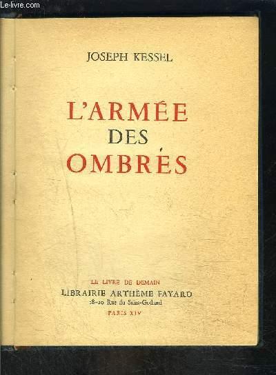 L ARMEE DES OMBRES- LE LIVRE DE DEMAIN- Nouvelle série