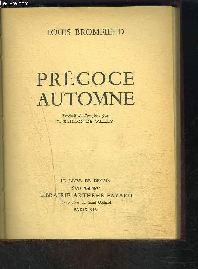 PRECOCE AUTOMNE- LE LIVRE DE DEMAIN- Nouvelle série