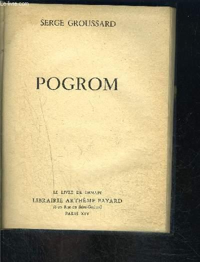 POGROM- LE LIVRE DE DEMAIN