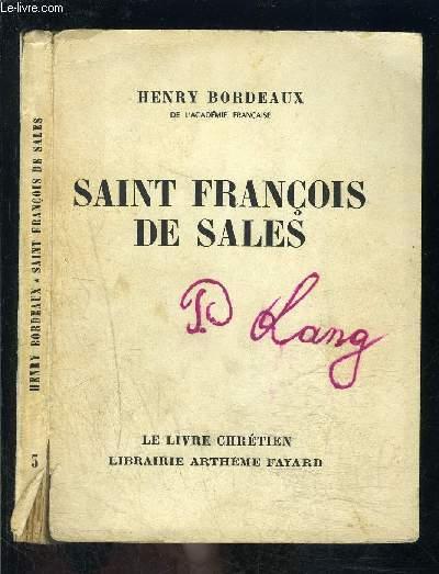 SAINT FRANCOIS DE SALES- LE LIVRE CHRETIEN N°3