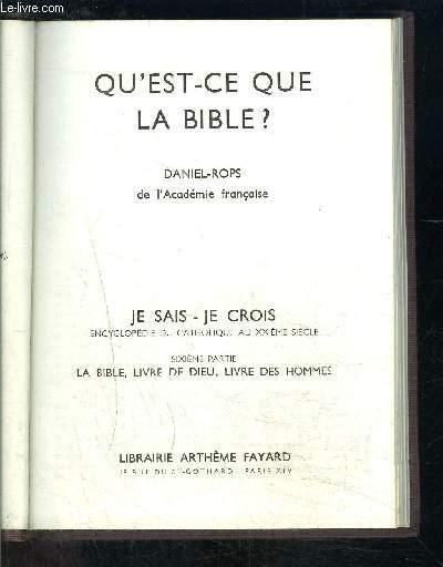 QU EST CE QUE LA BIBLE?- JE SAIS- JE CROIS N°6. 60