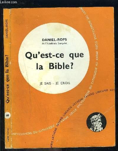 QU EST CE QUE LA BIBLE?- JE SAIS- JE CROIS N°60