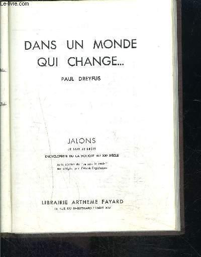 DANS UN MONDE QUI CHANGE...- JE SAIS- JE CROIS JALONS