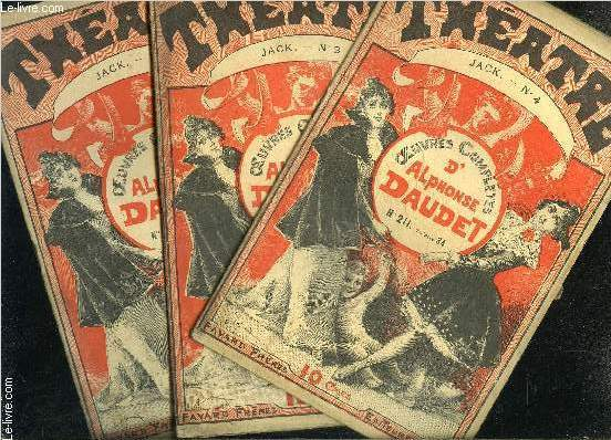 THEATRE- JACK- COLLECTION OEUVRES COMPLETES- INCOMPLET- 3 VOLUMES- N°2- 3- 4