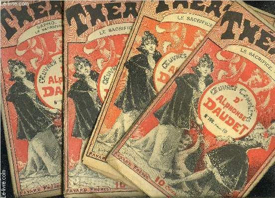 THEATRE- LE SACRIFICE- COLLECTION OEUVRES COMPLETES- INCOMPLET- 4 VOLUMES- N°1- 4- 5- 6/ + SAPHO N°7
