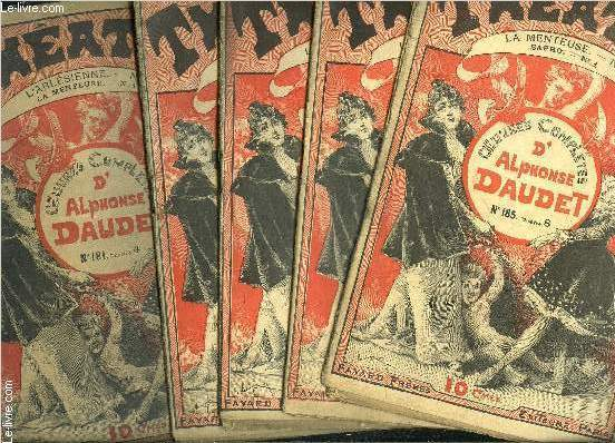 THEATRE- LA MENTEUSE- COLLECTION OEUVRES COMPLETES- INCOMPLET- 5 VOLUMES- N°1- 2- 3- 4- 5 / + L ARLESIENNE N°4/ + SAPHO N°1