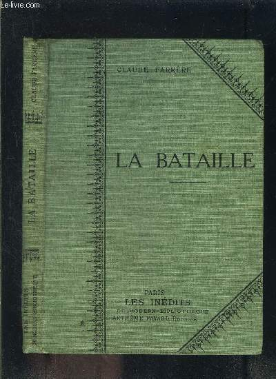 LA BATAILLE- COLLECTION MODERN-BIBLIOTHEQUE