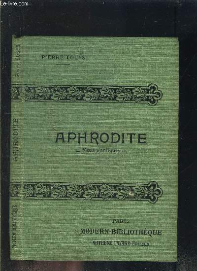 APHRODITE- MOEURS ANTIQUES- COLLECTION MODERN-BIBLIOTHEQUE