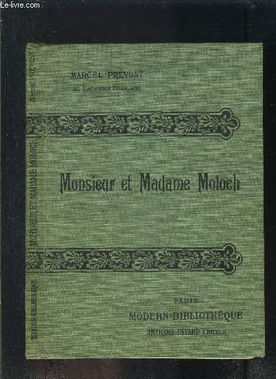 MONSIEUR ET MADAME MOLOCH- COLLECTION MODERN-BIBLIOTHEQUE