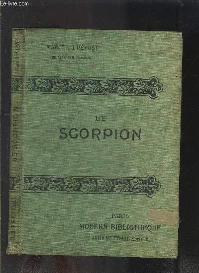 LE SCORPION- COLLECTION MODERN-BIBLIOTHEQUE