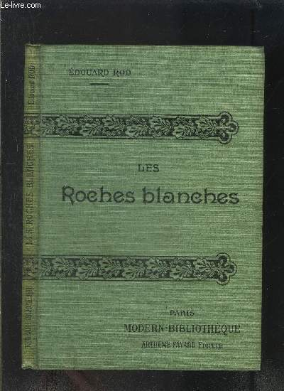 LES ROCHES BLANCHES- COLLECTION MODERN-BIBLIOTHEQUE