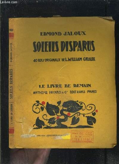 SOLEILS DISPARUS- LE LIVRE DE DEMAIN N°132
