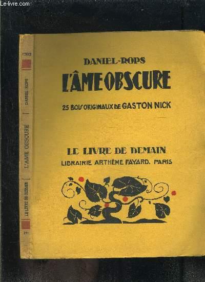 L AME OBSCURE- LE LIVRE DE DEMAIN N°191