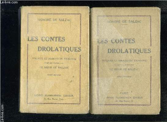 LES CONTES DROLATIQUES- 2 TOMES EN 2 VOLUMES