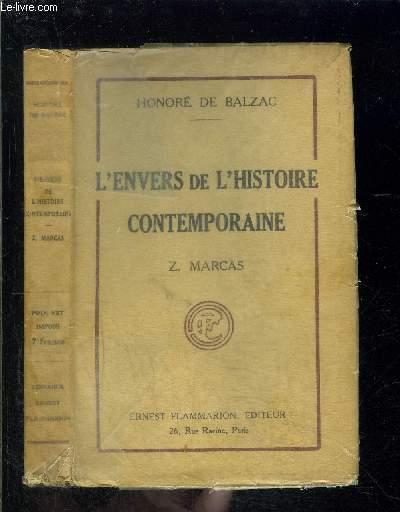 L ENVERS DE L HISTOIRE CONTEMPORAINE- Z. MARCAS