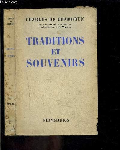 TRADITIONS ET SOUVENIRS