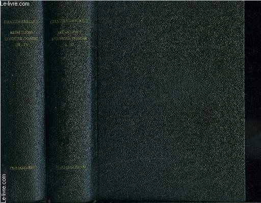 MEMOIRES D OUTRE TOMBE- 2 TOMES EN 2 VOLUMES- EDITION DU CENTENAIRE INTEGRALE ET CRITIQUE EN PARTIE INEDITE- VOLUME 1: TOME 1 ET 2/ VOLUME 2: TOME 3 SECONDE EPOQUE 1815-1830 DE LA RESTAURATION