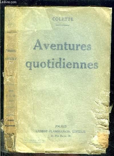 AVENTURES QUOTIDIENNES- COLLECTION BLEUE- VENDU EN L ETAT