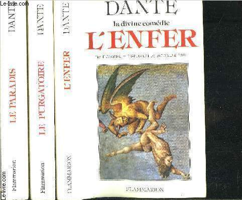 LA DIVINE COMEDIE- 3 TOMES EN 3 VOLUMES- L ENFER- LE PURGATOIRE- LE PARADIS