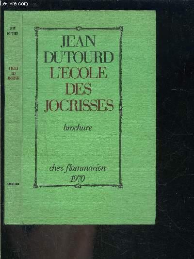 L ECOLE DES JOCRISSES