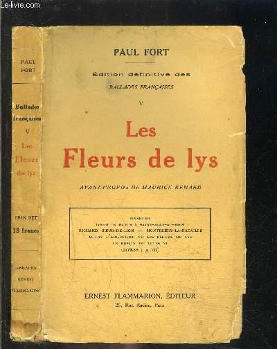 BALLADES FRANCAISES- TOME 5- LES FLEURS DE LYS