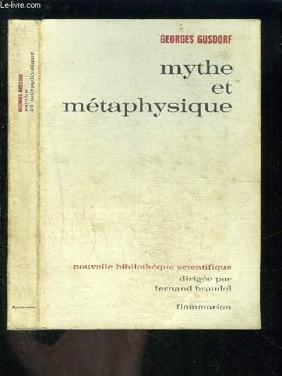 MYTHE ET METAPHYSIQUE- INTRODUCTION A LA PHILOSOPHIE